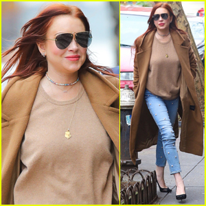 Lindsay Lohan Steps Out to Promote Her New Show in NYC