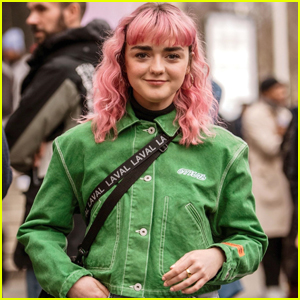 Maisie Williams Shows Off Bright Pink Locks in Paris!
