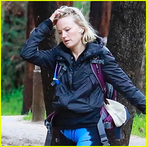 Malin Akerman Braves Rainy Weather for Afternoon Hike