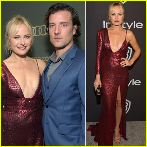 Malin Akerman is Joined by New Husband Jack Donnelly Attend Golden Globes After Parties!