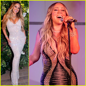 Mariah Carey Wears Two Form-Fitting Gowns on New Year's Eve