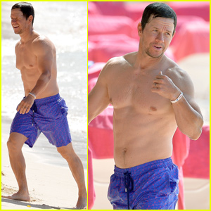 Mark Wahlberg Flexes Fit Body While Hitting the Beach in Barbados!