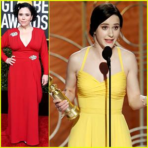 'Mrs. Maisel' Cast Attends Golden Globes 2019, Rachel Brosnahan Wins Again!