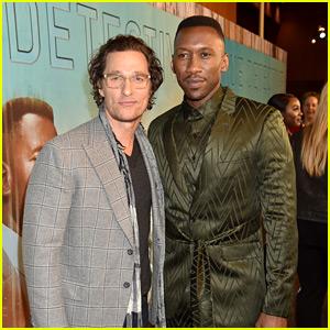 Matthew McConaughey Supports Mahershala Ali & 'True Detective' Cast at Season 3 Premiere!