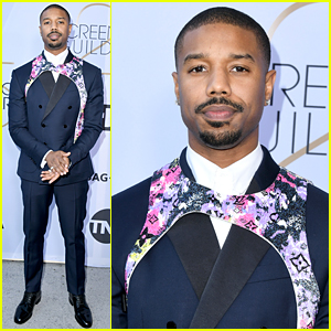 Michael B. Jordan Wears Colorful Harness to SAG Awards 2019