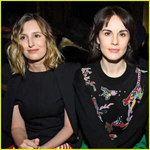 Michelle Dockery & Laura Carmichael Have a 'Downton Abbey' Reunion in Paris!