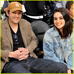 Ashton Kutcher & Mila Kunis Have a Date Night at Lakers Game
