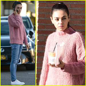 Mila Kunis Picks Up Her Morning Coffee in L.A.