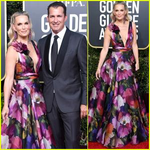 Molly Sims & Husband Scott Stuber Couple Up at Golden Globes 2019!