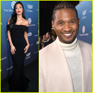 Nicole Scherzinger & Usher Step Out in Style for Art of Elysium Event