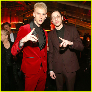 Pete Davidson & Machine Gun Kelly Party It Up at InStyle's Golden Globes After Party!