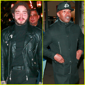 Post Malone & Jamie Foxx Grab Dinner at The Cheesecake Factory in LA!