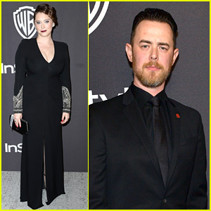 Rachel Bloom & Colin Hanks Step Out for Golden Globes 2019 After Parties