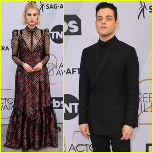 Rami Malek & Lucy Boynton Bring 'Bohemian Rhapsody' to SAG Awards 2019!