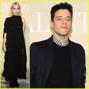 Rami Malek & Lucy Boynton Couple Up at Valentino's Paris Show