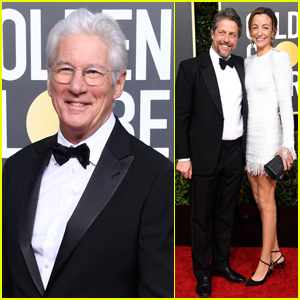 Richard Gere Joins Hugh Grant & Wife Anna Eberstein at Golden Globes 2019!