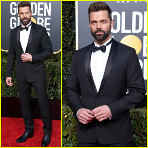 Ricky Martin Looks Sharp While Stepping Out at Golden Globes 2019!