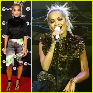 Rita Ora Leads Spotify Supper at Las Vegas Tech Conference!