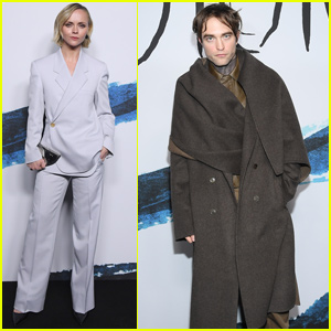 Robert Pattinson & Christina Ricci Step Out For 'Dior Men' Fashion Show in Paris