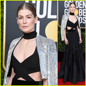 Best Actress Nominee Rosamund Pike Looks Chic at Golden Globes 2019!
