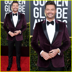 Ryan Seacrest Shows His Style at Golden Globes 2019!
