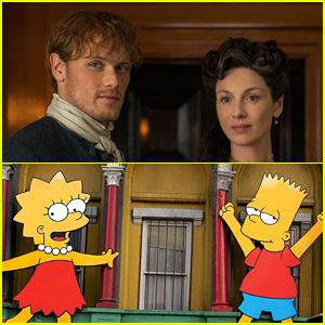 Sam Heughan & Caitriona Balfe React to Outlander's Mention on 'The Simpsons'