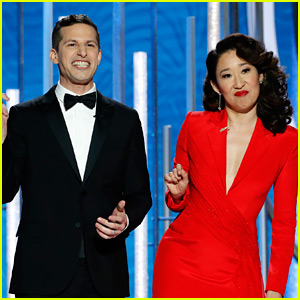 Andy Samberg & Sandra Oh Dish Out the Nicest Insults During Golden Globes Opening Monologue