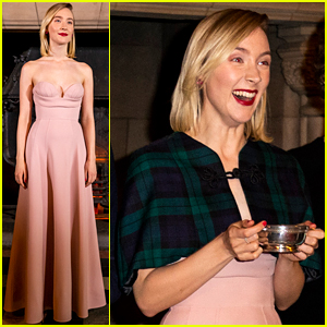 Saoirse Ronan is Pretty in Pink at 'Mary Queen of Scots' Scotland Premiere