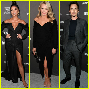 Shay Mitchell Joins Emily Osment & Tyler Blackburn at EW's Pre-SAG Awards Party