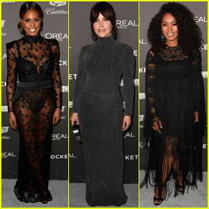 Sophia Bush Joins Laverne Cox & Angela Bassett at EW's Pre-SAG Awards Party