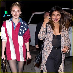 Priyanka Chopra Joins Sophie Turner for Dinner in L.A.