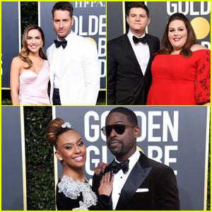 Sterling K. Brown Joins Justin Hartley & Chrissy Metz at Golden Globes 2019!