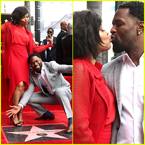 Taraji P. Henson Gets Star on Hollywood Walk of Fame, Shares Cute Kisses with Fiance Kelvin Hayden