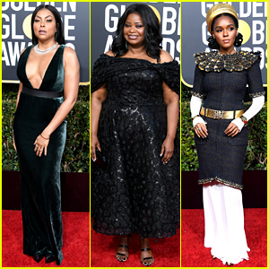 Taraji P. Henson, Octavia Spencer, & Janelle Monae Hit the Golden Globes 2019 Red Carpet
