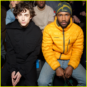 Timothee Chalamet & Frank Ocean Buddy Up at Louis Vuitton Men's Paris Fashion Show!