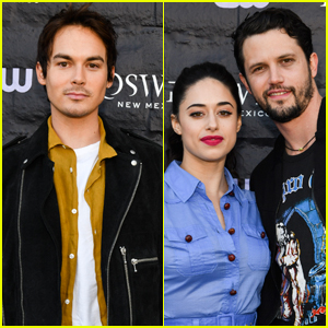 Tyler Blackburn Joins Jeanine Mason & Nathan Parsons at 'Roswell, New Mexico' Premiere!