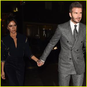 David & Victoria Beckham Couple Up For London Fashion Week Dinner