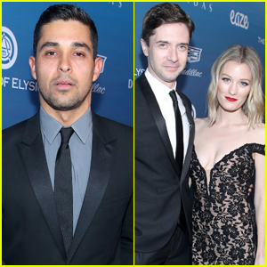 Wilmer Valderrama & Topher Grace Reunite at Art of Elysium Event!