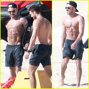 Zac Efron Goes Shirtless While Hitting the Beach With Younger Brother Dylan!