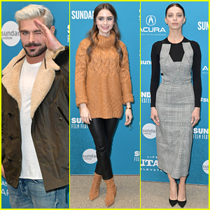 Zac Efron, Lily Collins, & Angela Sarafyan Premiere 'Extremely Wicked, Shockingly Evil & Vile' at Sundance Film Festival 2019