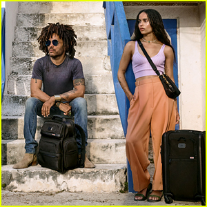 Zoe Kravitz & Dad Lenny Travel to the Bahamas for TUMI Campaign