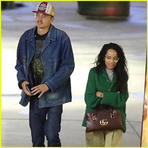 Zoe Kravitz & Fiance Karl Glusman Enjoy a Movie Date in Hollywood