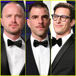 Aaron Paul, Zachary Quinto, & Andy Samberg Hit Up Vanity Fair's Oscars 2019 Party!