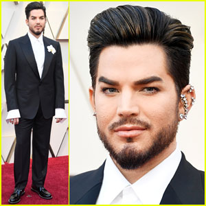 Adam Lambert Hits Oscars 2019 Red Carpet Before Performance With Queen 2019 Oscars Adam Lambert Oscars Just Jared