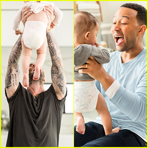 Adam Levine & John Legend Change Their Kids' Diapers in Pampers' Super Bowl Ad (Video)