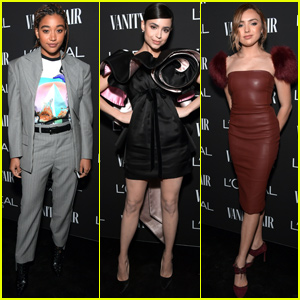 Amandla Stenberg, Sofia Carson & Peyton List Step Out For at Vanity Fair's Pre-Oscar Party!