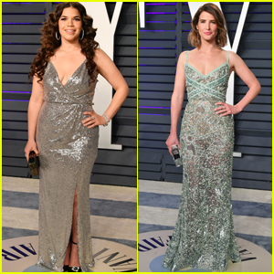 America Ferrera & Cobie Smulders Hit the Red Carpet at Vanity Fair's