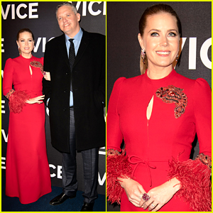 Amy Adams Is Ravishing in Red at 'Vice' Paris Premiere