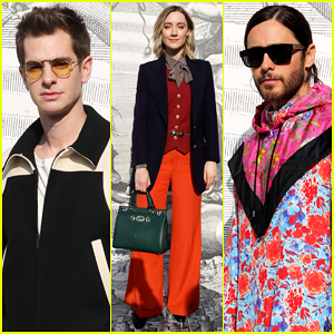 Andrew Garfield, Saoirse Ronan & Jared Leto Step Out for Gucci's Milan Fashion Show!
