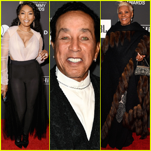Angela Bassett Joins Smokey Robinson & Dionne Warwick at Clive Davis' Pre-Grammys Party